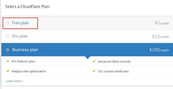 国外免费CDN加速及防护:CloudFlare注册使用教程 主机 网站安全 网站运营 站长 建站教程 第4张